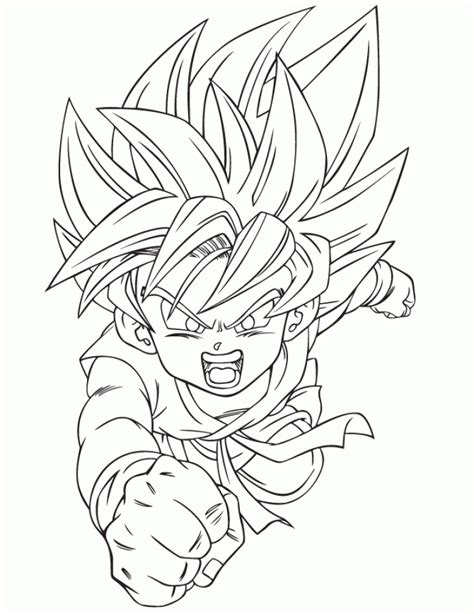 DRAGON BALL Z COLORING Pages Free Download Printable