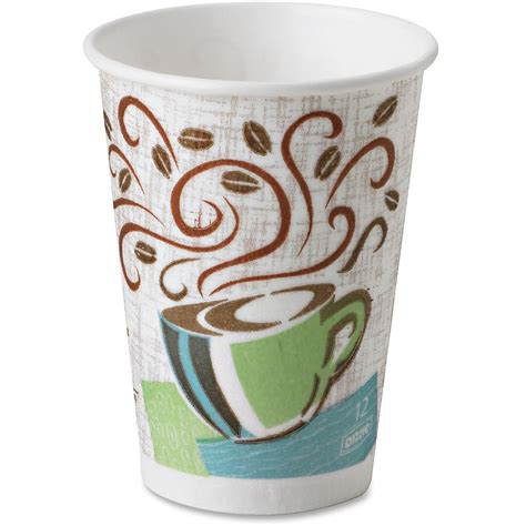 DXE5342CDSBP Dixie PerfecTouch Coffee Haze Hot Cups