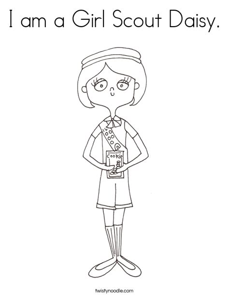 Daisy Girl Scout Coloring Page Twisty Noodle