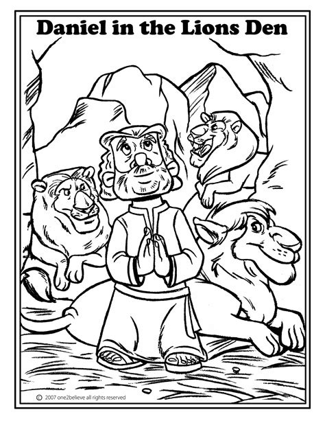 Daniel Coloring Page for Kids free Bible printable