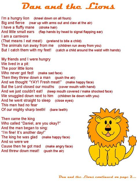 Daniel and the Lions Bible Lesson Plan Bible Crafts and