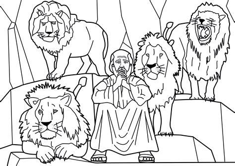 Daniel in the Lion s Den coloring page KidExplorers