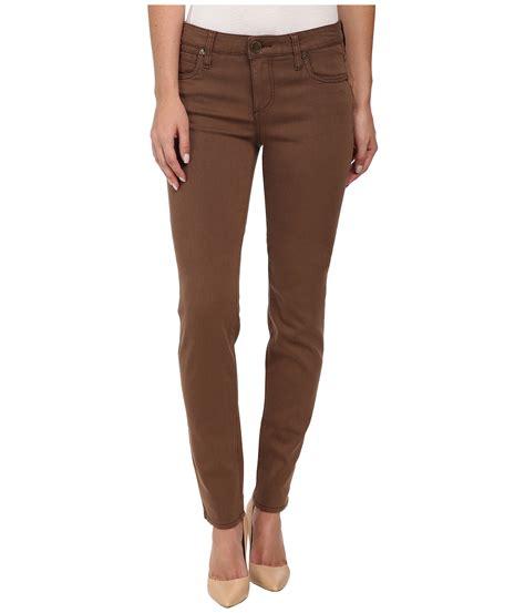 Dark Brown Skinny Jeans Womens