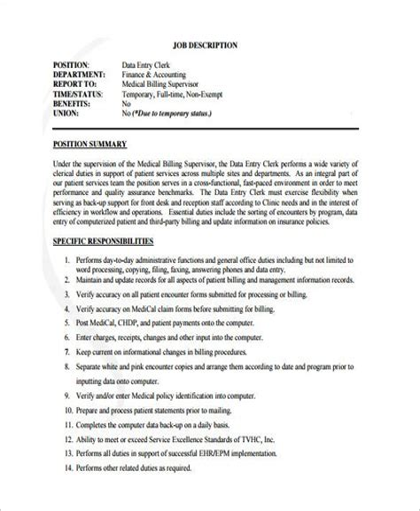 Data Entry Job Description Job Interviews