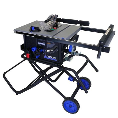 Delta 10 in 15 Amp Portable Table Saw with Folding Stand
