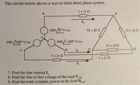Delta and Wye 3 phase circuits