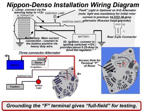 denso one wire alternator diagram images. mustang alternator, Wiring diagram