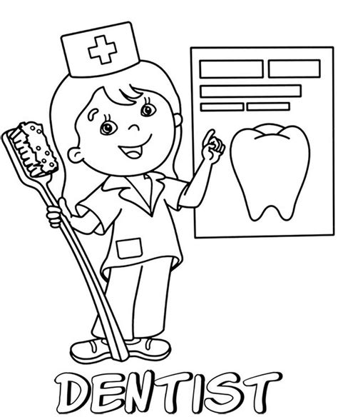 Dental Coloring Pages Dentist Printable coloring pages