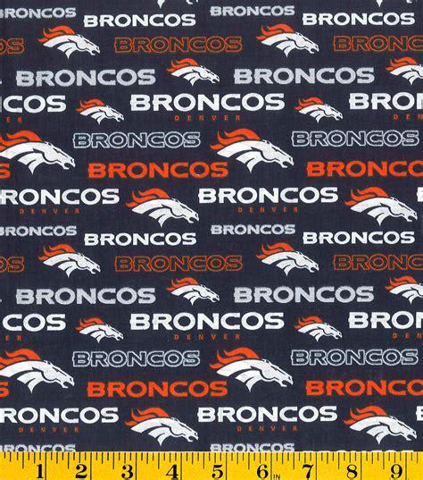Denver Broncos NFL Cotton Fabric Jo Ann