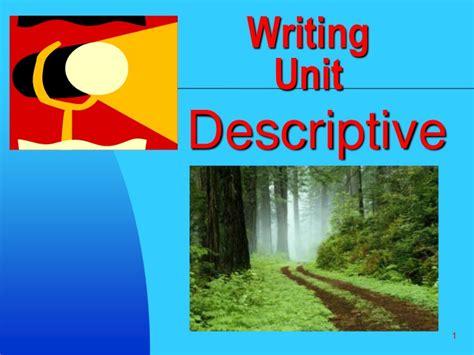 Descriptive writing SlideShare