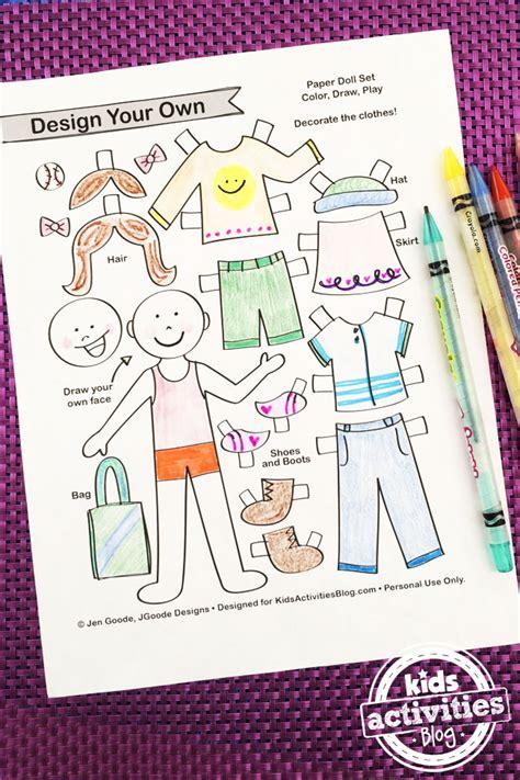 Design Your Own Paper Dolls Printable Crafts Tips Tricks