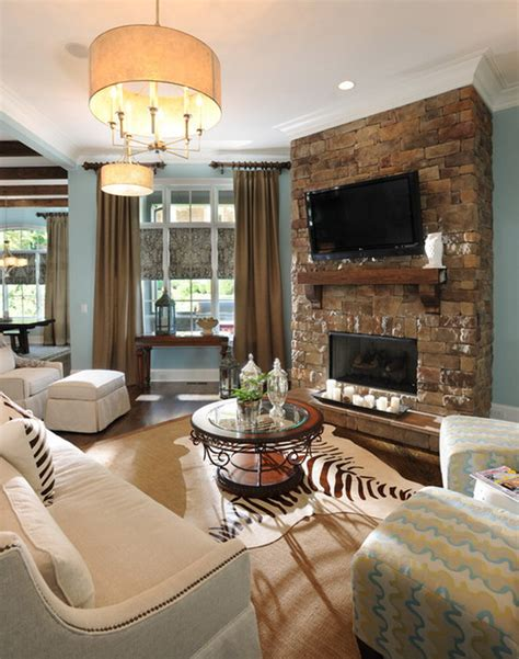 Designing a Living Room with a Fireplace Interior design
