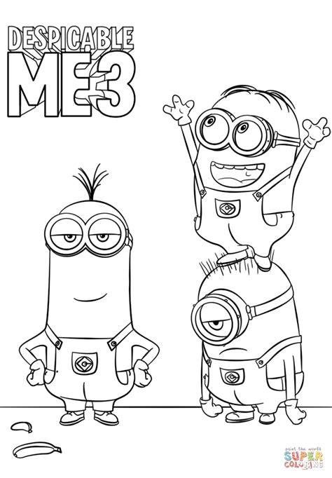 Despicable Me 3 Minions coloring page Free Printable