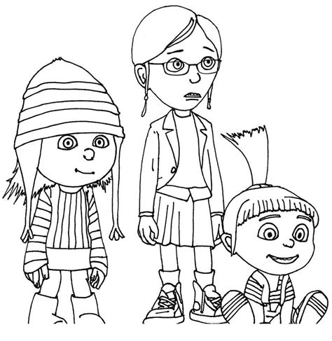 Despicable Me Free Printable Coloring Pages for Kids
