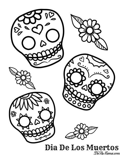 Dia De Los Muertos Online Coloring Pages Page 1