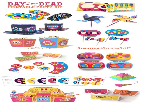 Dia de los Muertos printables 23 cool DIY ideas templates