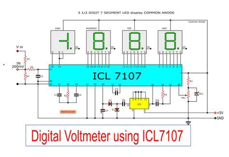 Digital Voltmeter Wiring Diagram