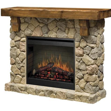 Dimplex Fieldstone Rustic Electric Fireplace Mantel