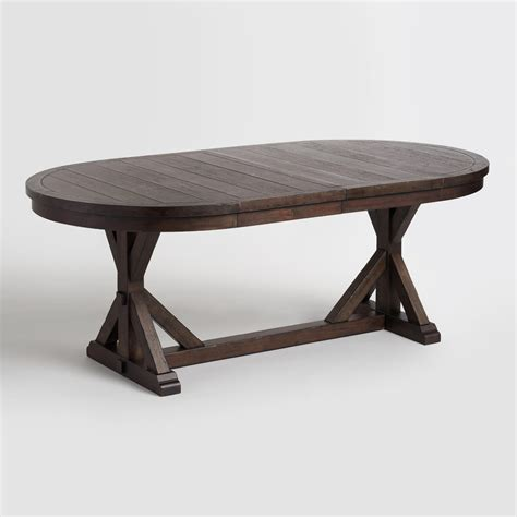 Dining Room Tables Rustic Wood Farmhouse Style World World Market