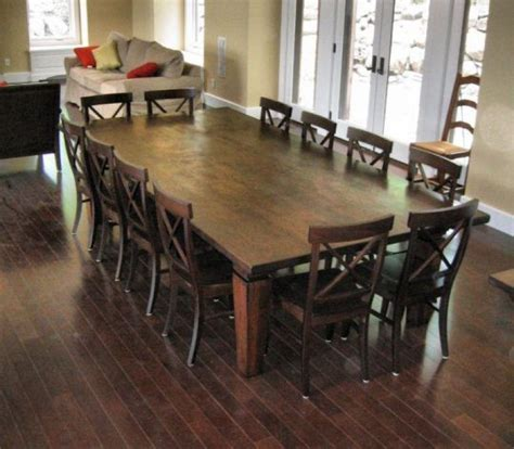 Dining Room Top 12 Seat Table We Wanted To Keep The