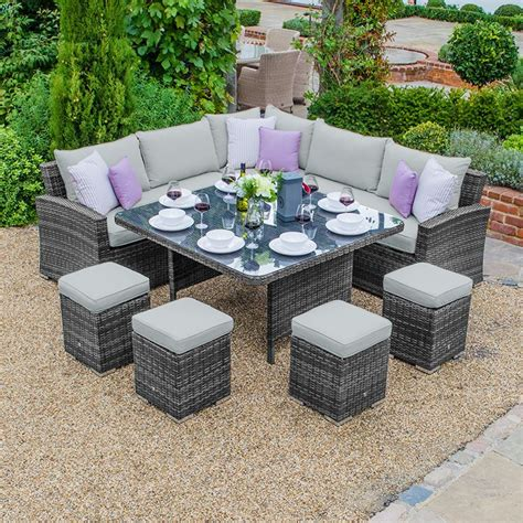 Dining Settings Deluxe Outdoor Wicker Dining Setting