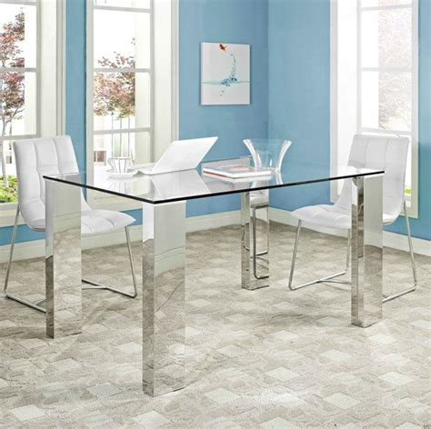 Dining rooms Stainless Steel Top Dining Table Design Ideas