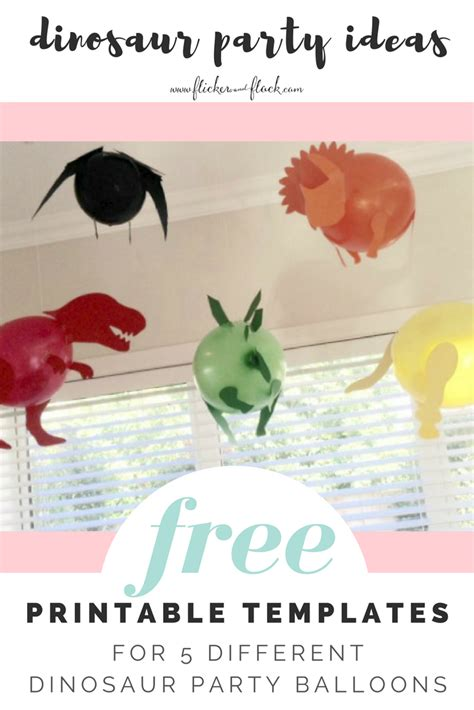 Dinosaur party balloons with FREEBIE templates Flicker