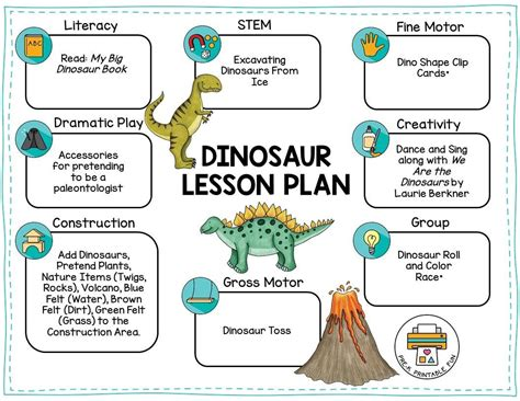 Dinosaurs Thematic Units Lesson Plans and Printouts