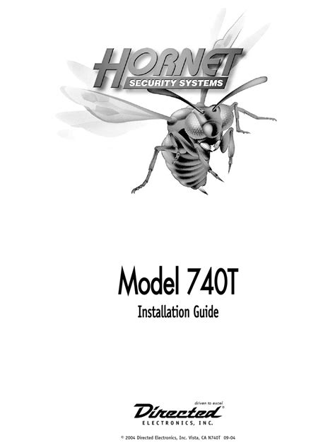 Directed Electronics Hornet 564T Installation Manual