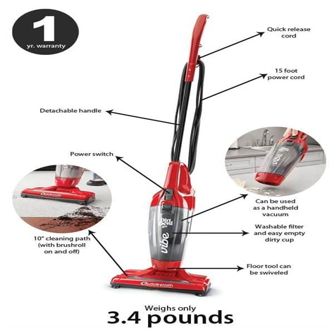 Dirt Devil Vibe 3 in 1 Corded Stick Vacuum SD20020