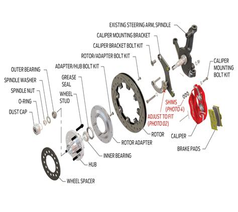 Disc Brake Parts Diagram