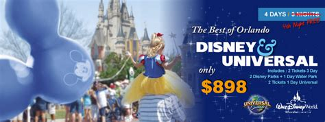 Discount Orlando Tickets Disney World Vacation Universal