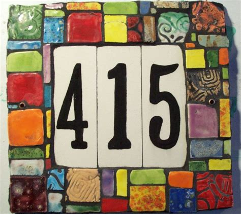 Discount Porcelain Tile Mosaic House Numbers Marble