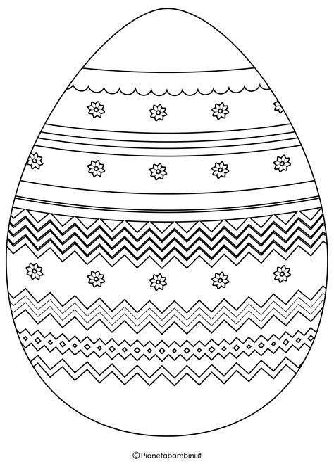 Disegni uova Pasqua Tanti disegni uova pasqua da colorare