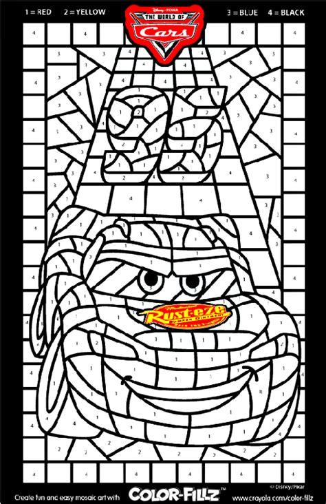 Disney Cars Mosaic Coloring Page crayola