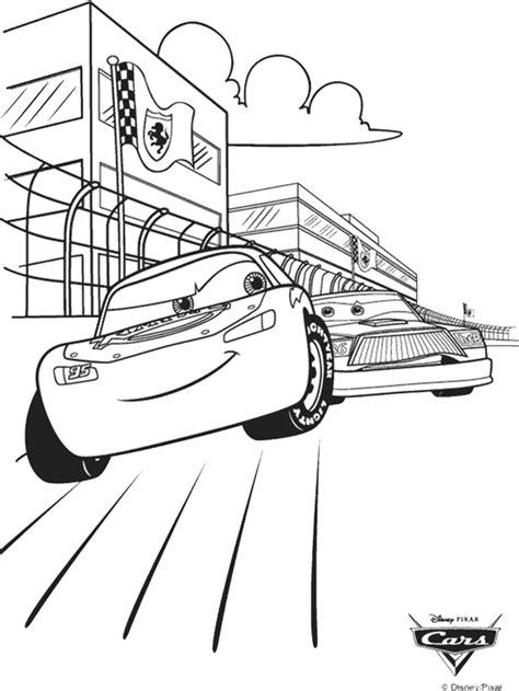 Disney Cars Race Coloring Page crayola
