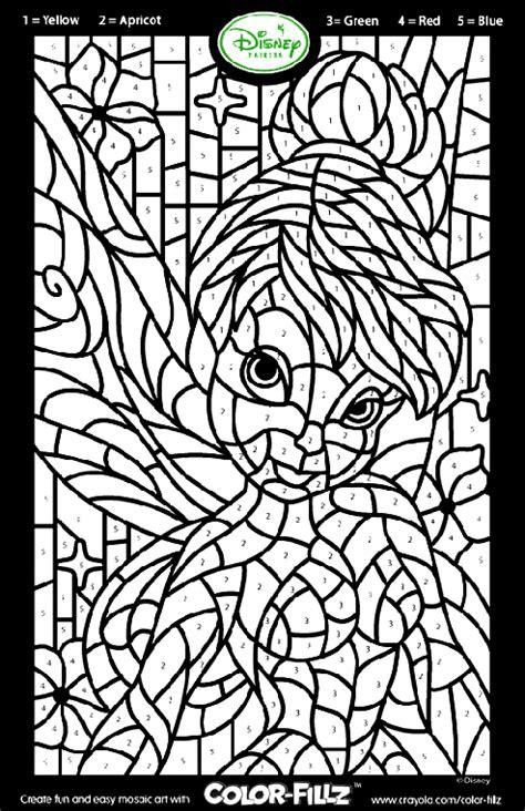 Disney Fairies Tinkerbell Mosaic Coloring Page crayola