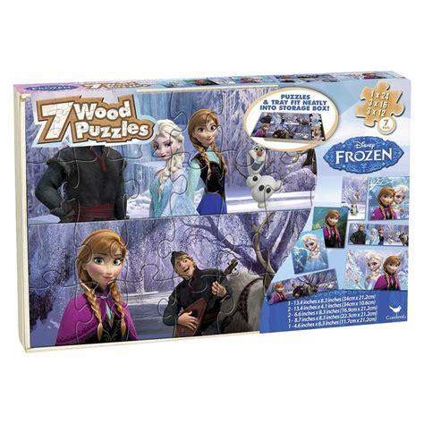 Disney Frozen 7pk Wood Puzzle 24pc Target