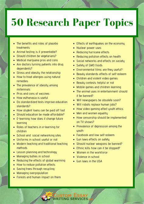 proposal essay topics list