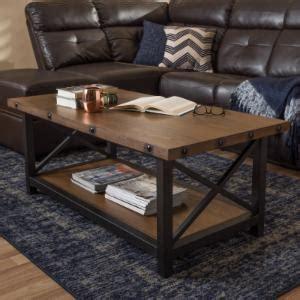 Distressed Industrial Style Coffee Tables Hayneedle