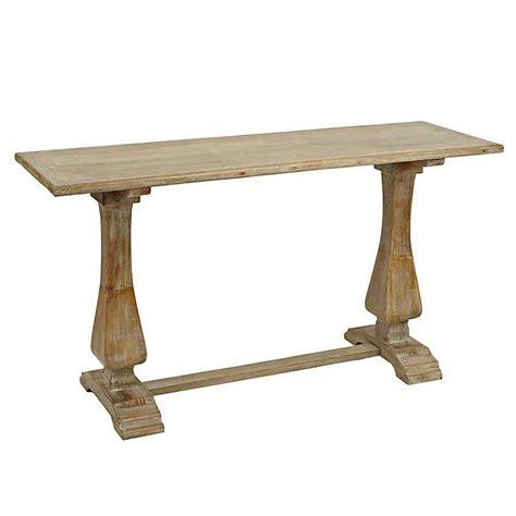 Distressed Natural Pedestal Console Table Kirklands