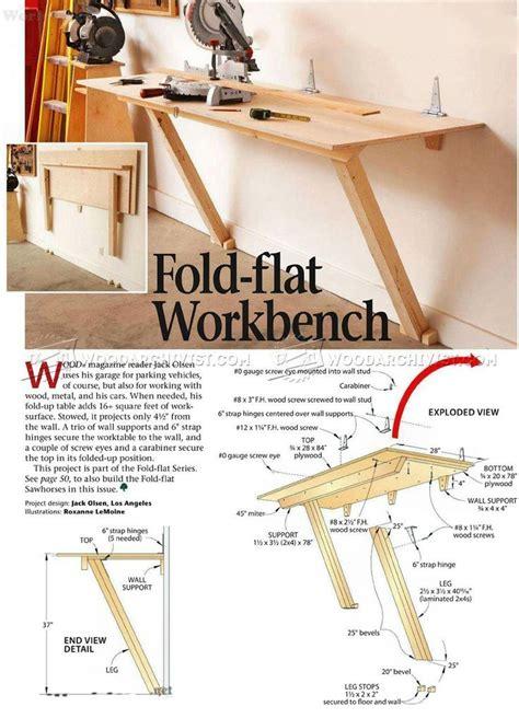 Diy Folding Workbench Plans diyshedplansguidei
