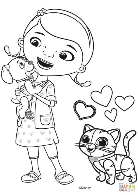 Doc McStuffins Coloring Page Disney Family