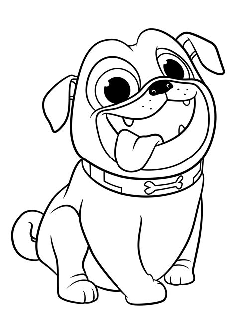 Dog Coloring Pages Free Printable Kids Coloring