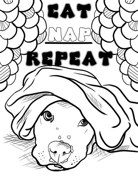 Dog coloring pages Etsy