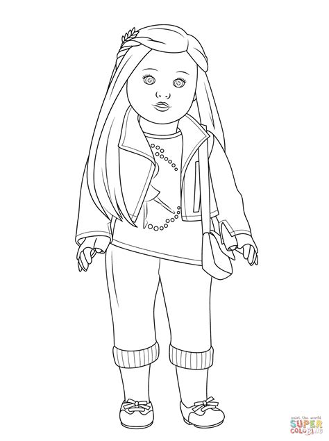 Doll Days Coloring Pages for American Girl Doll Fans