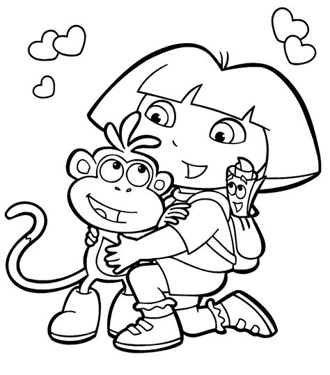 Dora Coloring Pages Free and Printable ColoringBookFun
