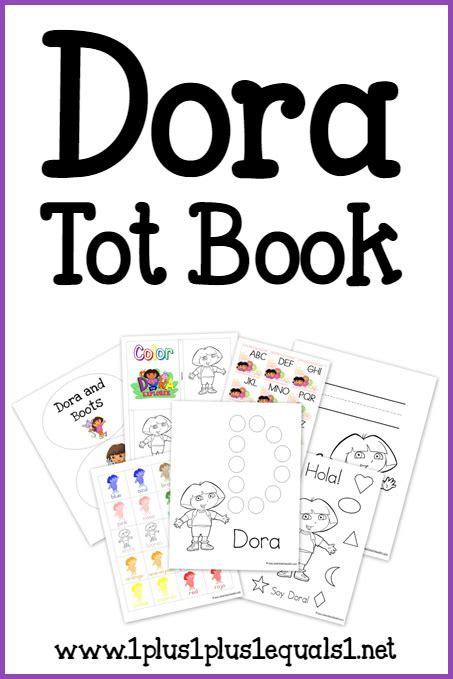 Dora Tot Book Free Printables 1 1 1 1