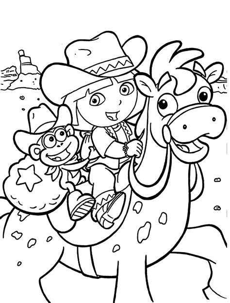 Dora the Explorer Colouring Pages and Other Activities