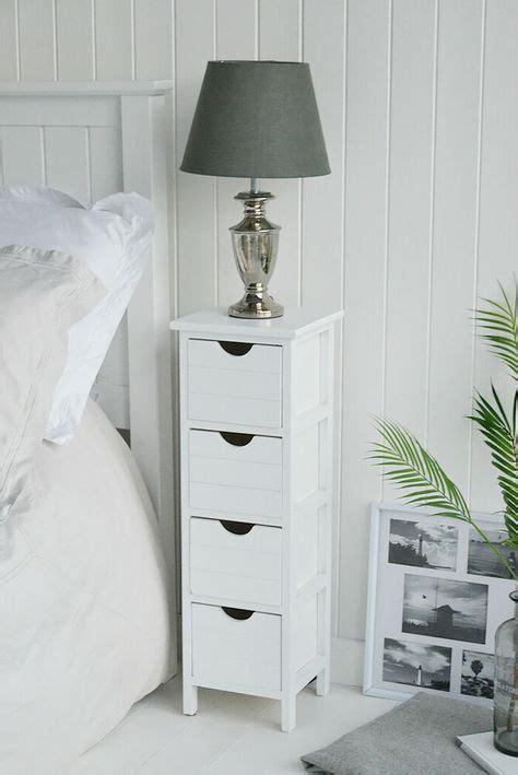 Dorset 25cm narrow white bedside table Bedroom Furniture